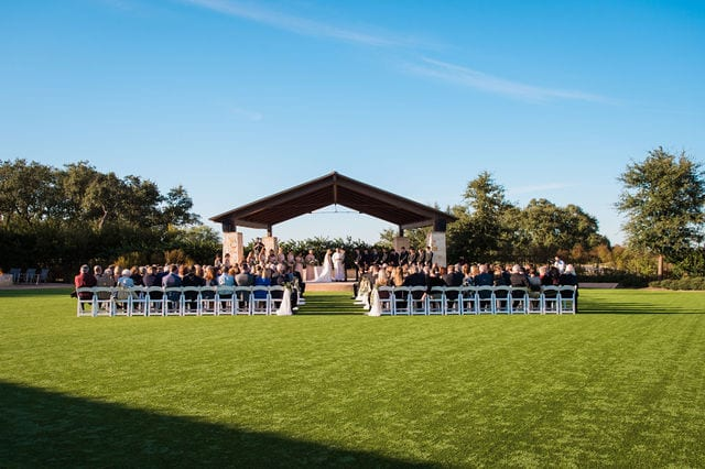 Michele's wedding at La Cantera ceremony pavilion