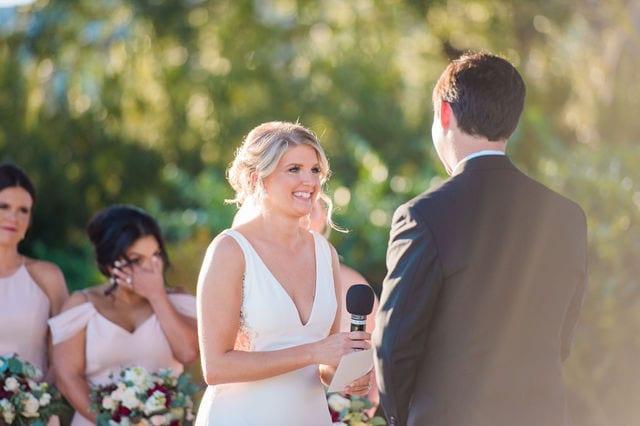 Michele's wedding at La Cantera ceremony vows