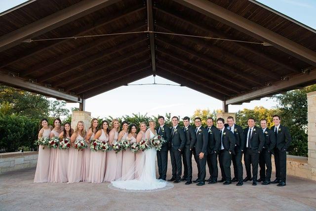 Michele's wedding at La Cantera wedding bridal party