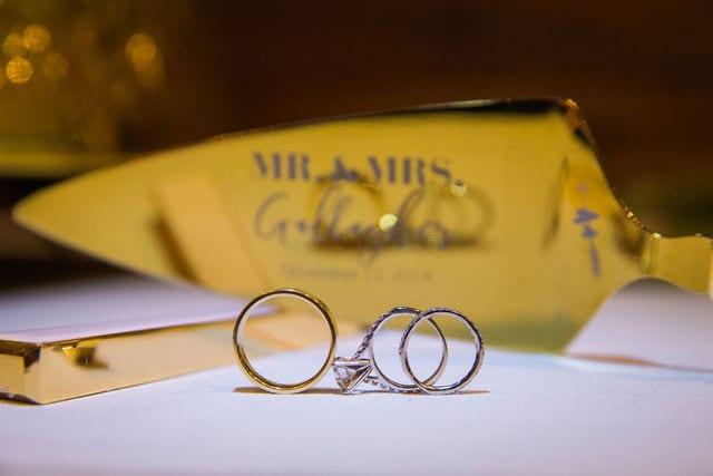 Michele's wedding at La Cantera wedding rings
