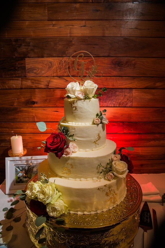 Michele's wedding at La Cantera wedding cake