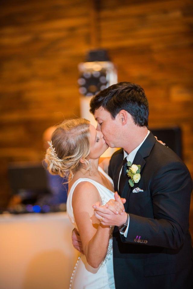 Michele's wedding at La Cantera wedding first dance kiss