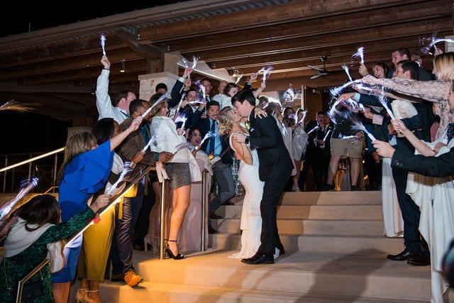 Michele's wedding at La Cantera wedding reception exit