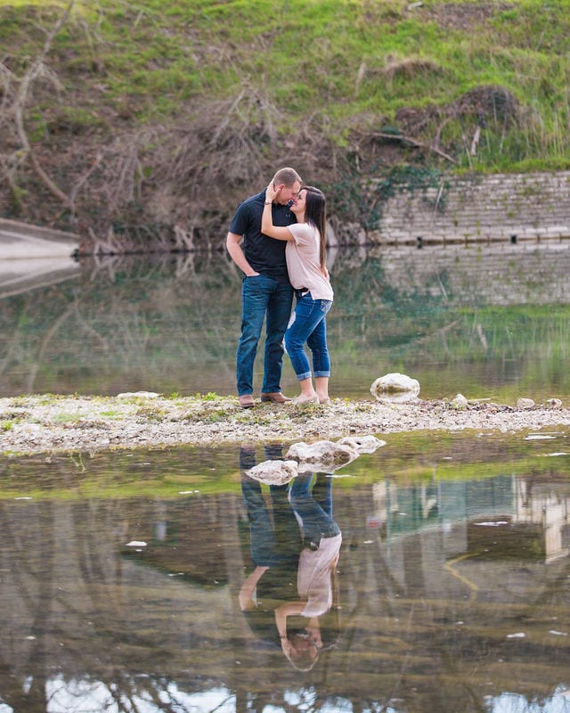 Stefan and Ashley's engagement session. island reflection