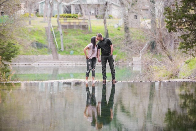 Stefan and Ashley's engagement session top of the dam