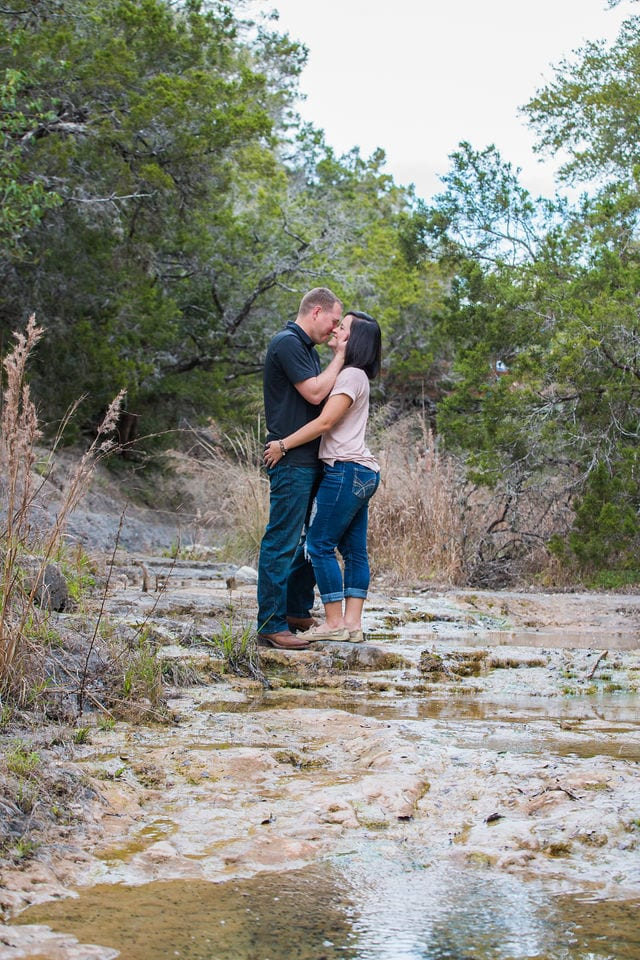 Stefan and Ashley's engagement session in the river bed
