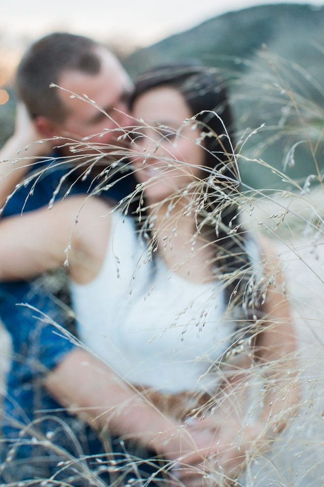 Stefan and Ashley's engagement session in the tall grass dreamy