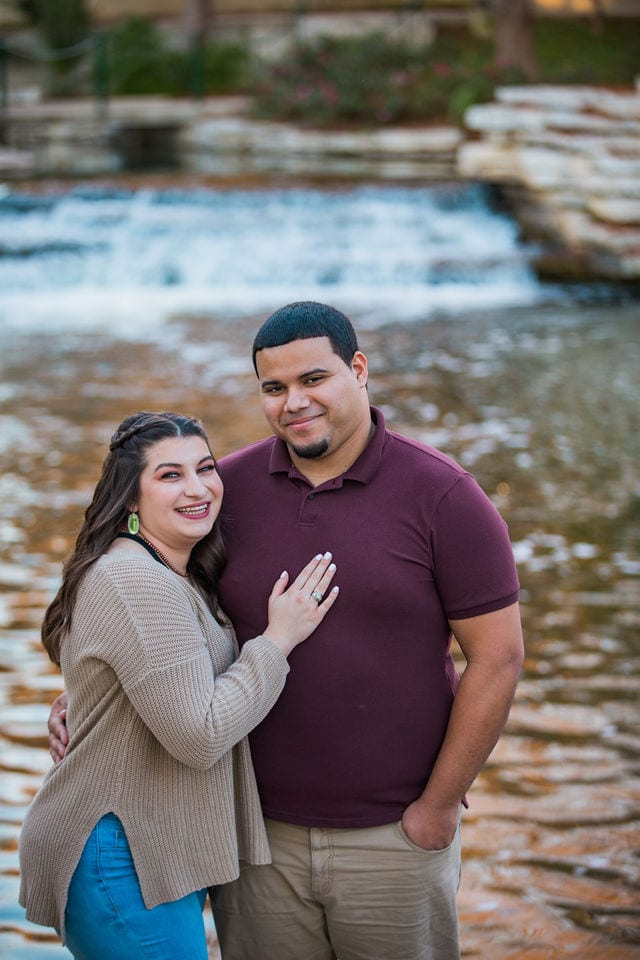 Dana and Andrews engagement session at the Pearl on the river